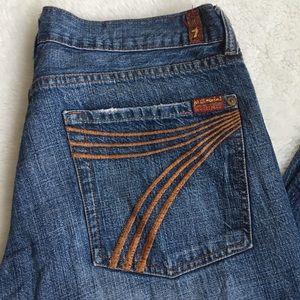 7 for All Mankind Dojo Wide Leg Jeans size 32x29.5